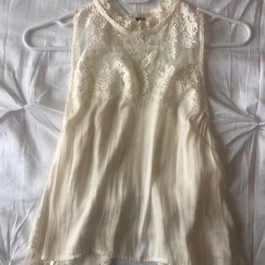 Open back free people lace top